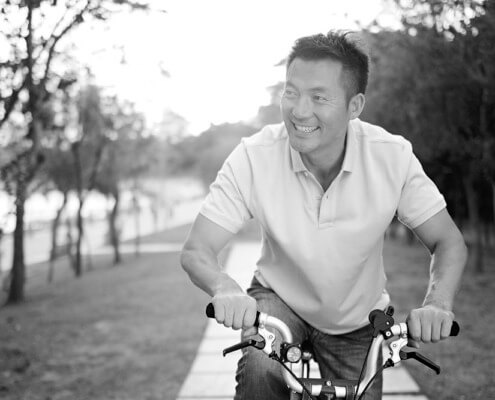 Man riding bike - sperm donor contracts